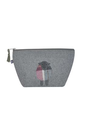 Picture of Earth Squared Sheep Animal Applique Make Up Bag