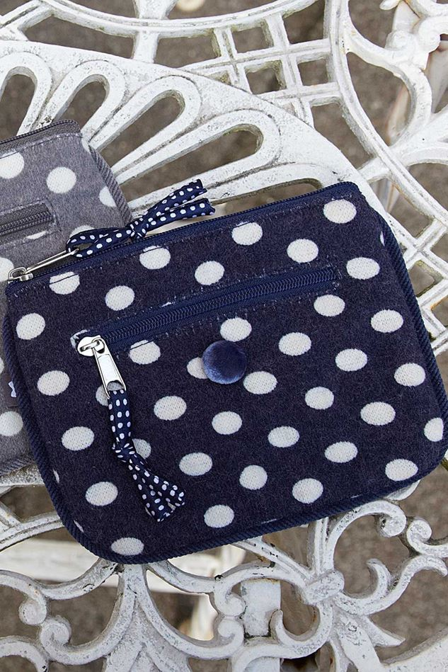 Picture of Earth Squared White Spot Jersey Emily Purse