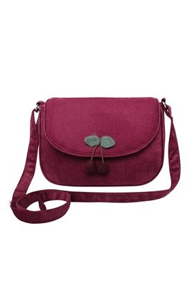 Picture of Earth Squared Plain Wool Cherry Messenger Bag