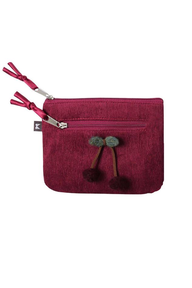 Picture of Earth Squared Plain Wool Cherry Emily Purse
