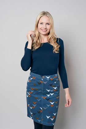 Picture of Lily & Me Annabelle Etched Triangle Cord Skirt