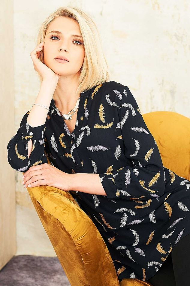Picture of Adini Feather Print Feather Tunic