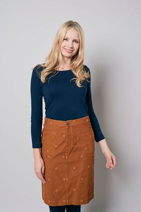 Picture of Lily & Me Annabelle Plain Embroidered Skirt