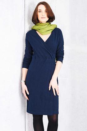 Picture of Adini Solid Cotton Slub Cammy Dress