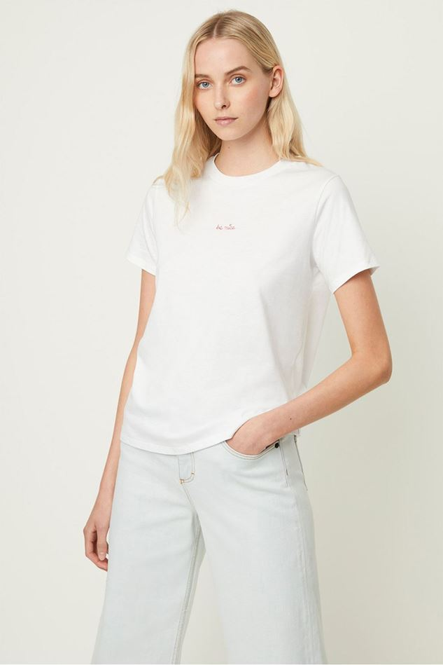 Picture of French Connection Be Nice Embroidered T-shirt