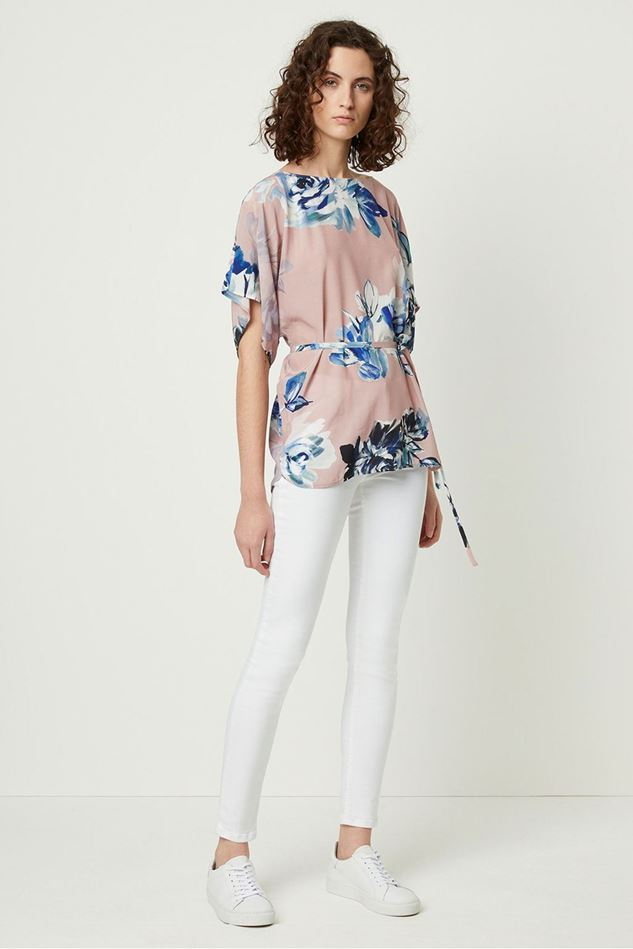 Picture of French Connection Corsetta Drape Floral Belted Top