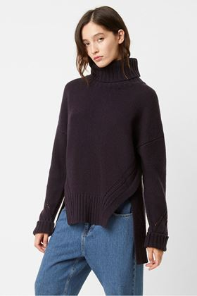 Picture of French Connection Sola Ladder Knits Roll Neck Jumper