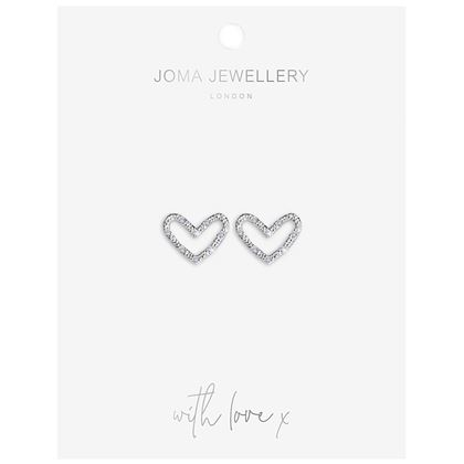 Picture of Joma Jewellery Thea Heart Earrings