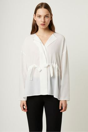 Picture of French Connection Crepe Gathered Waist Blouse