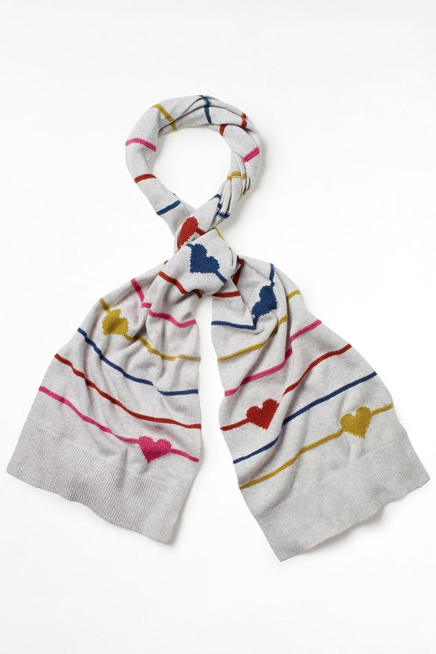 Picture of White Stuff Heart and Stripe Scarf