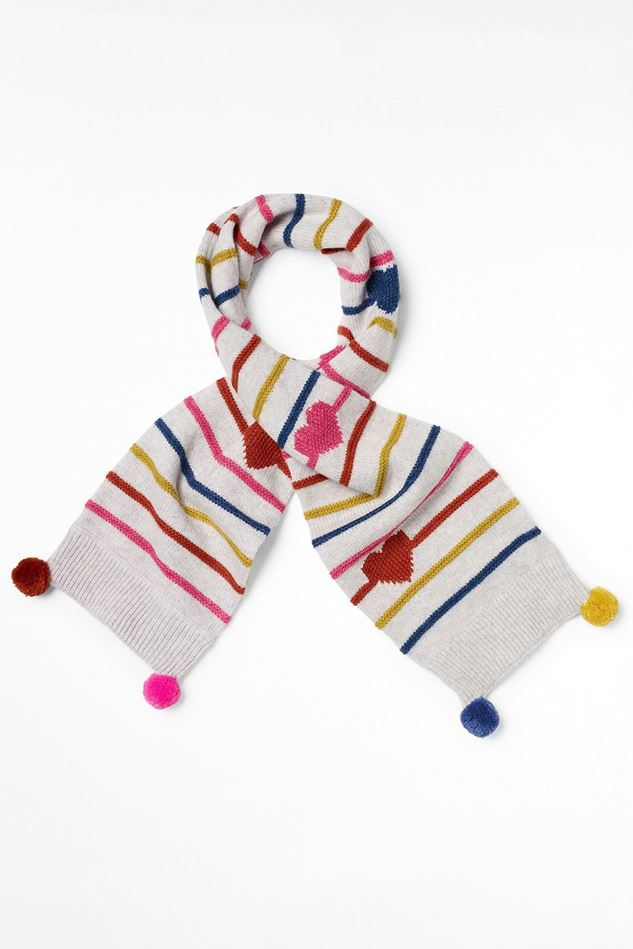 Picture of White Stuff Kids Hearts & Stripes Scarf