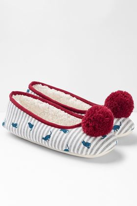 Picture of White Stuff Cat Bellerina Slipper