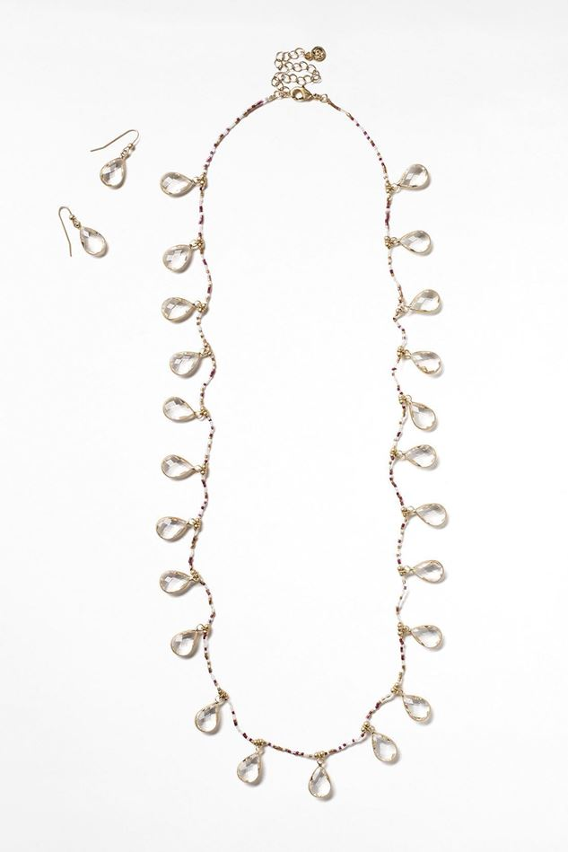 Picture of White Stuff Faceted Necklace & Earrings