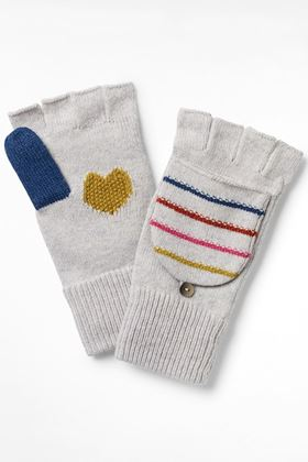 Picture of White Stuff Heart and Stripe Flip Mitt