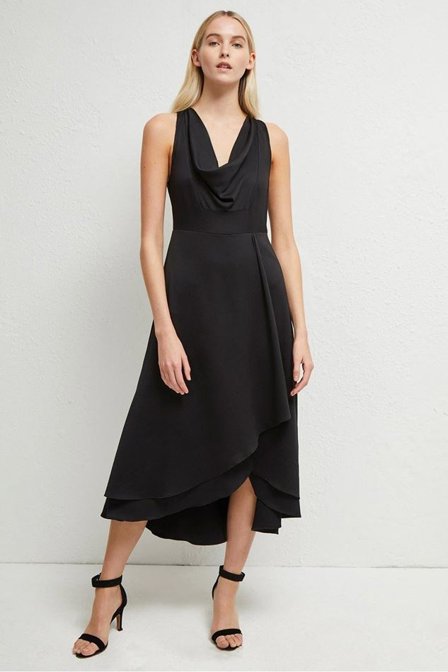 Picture of French Connection Alessia Satin Cowl Neck Dress