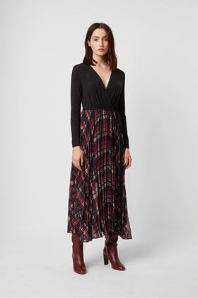 Picture of French Connection Armo Mix jersey Check Dress