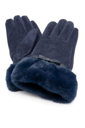 Picture of Franchetti Bond Alice Suedette & Faux Fur Glove