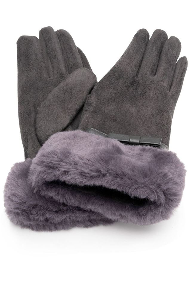 Picture of Franchetti Bond Alice Suedette & Faux Fur Glove