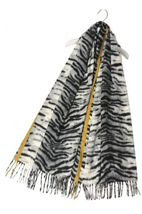 Picture of Tiger Stripe Wool Tassel Scarf