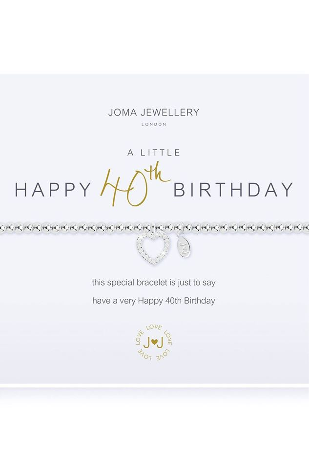 Picture of Joma Jewellery a little Happy 40th Bracelet