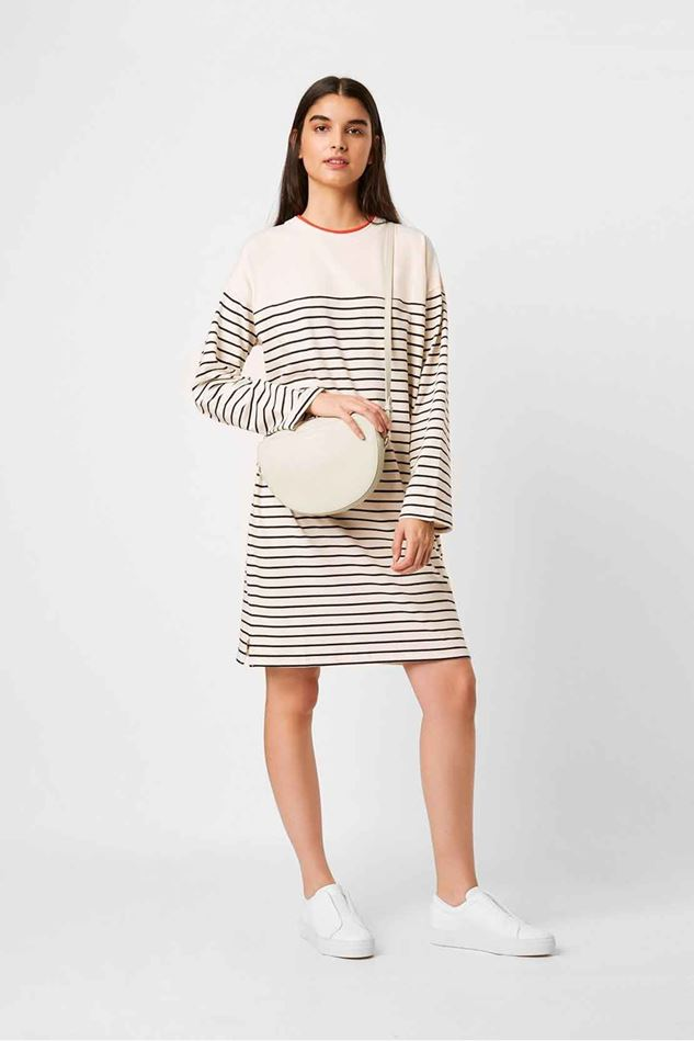 Picture of French Connection  Tim Tim Breton Stripe Long Sleeved Dress