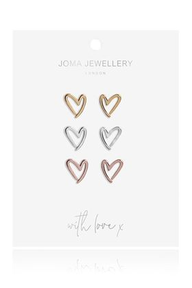 Picture of Joma Jewellery Florence Outline Heart Earrings