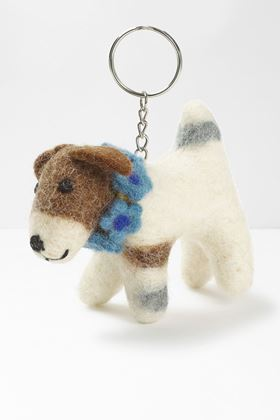 Picture of White Stuff Daisy Chain Dog Keyring