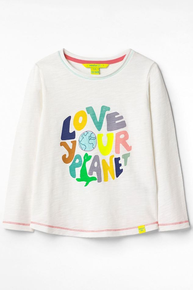 Picture of White Stuff Kid's Organic Love Your Planet Jersey Tee