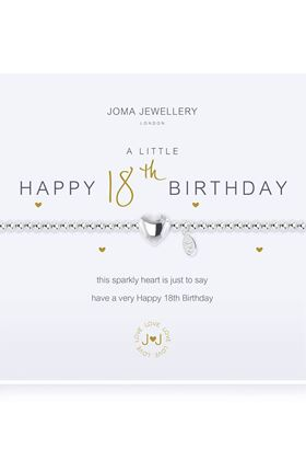 Picture of Joma Jewellery a little HAPPY 18th silver bracelet
