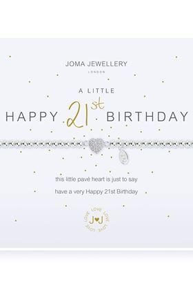 Picture of Joma Jewellery a little Happy 21st silver bracelet