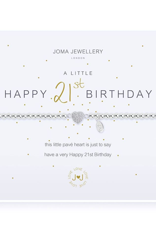 Picture of Joma Jewellery a little Happy 21st silver bracelet
