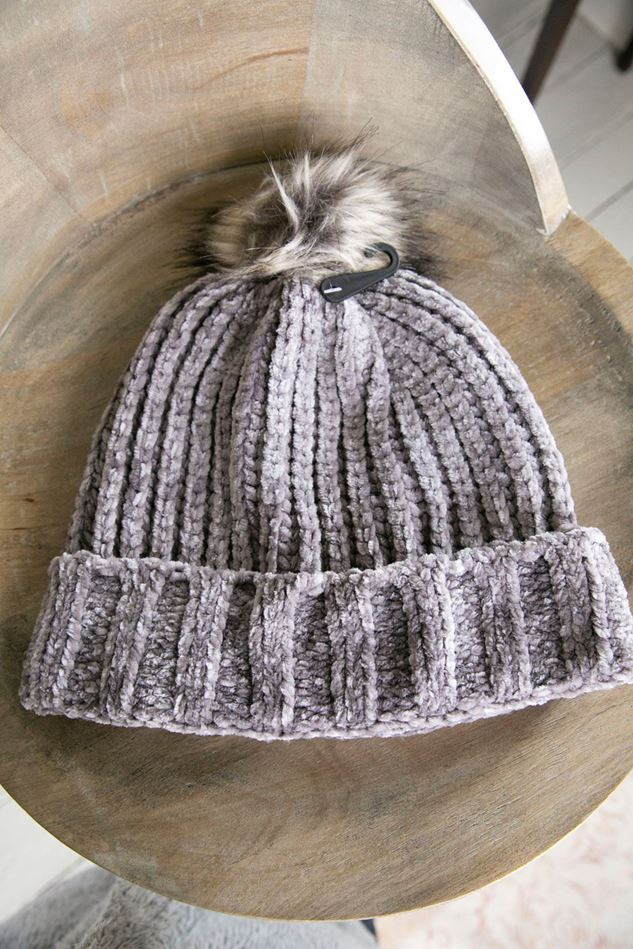 Picture of POM Chenille Bobble Hat