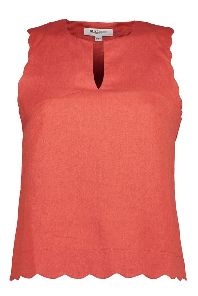 Picture of Great Plains Linen Blend Scallop Top