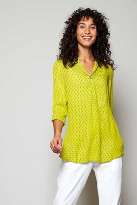 Picture of Nomads Rice Print Shawl Collar Tunic