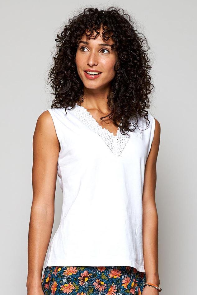 Picture of Nomads Organic Cotton Crochet Detail Vest