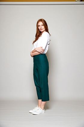 Picture of Nomads Relaxed Fit Cotton Crop Trouser