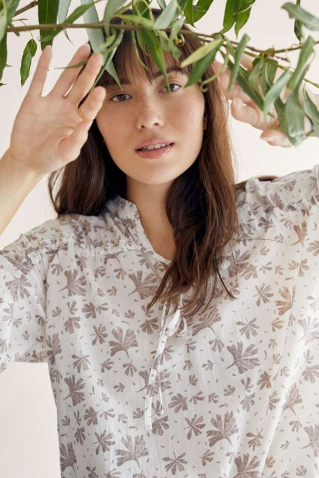Picture of Thought Winslet Organic Cotton Floral Blouse