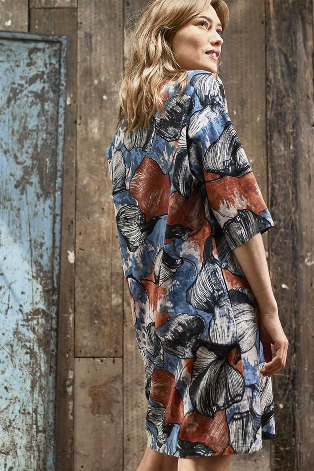 Picture of Thought Lyme Hemp Print Shift Dress