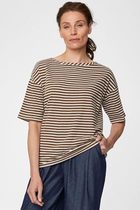 Picture of Thought Simonia Hemp Striped Tee