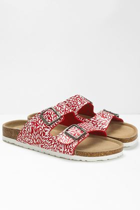 Picture of White Stuff Double Strap Printed Footbed Sandal