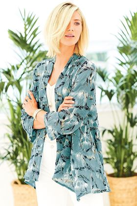 Picture of Adini Yasmine Kimono Sirocco Print