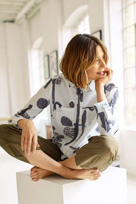 Picture of Thought Paullina Organic Cotton Spot Shirt