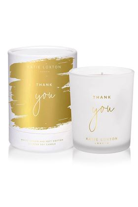 Picture of Katie Loxton Sentiment Candle Thank You
