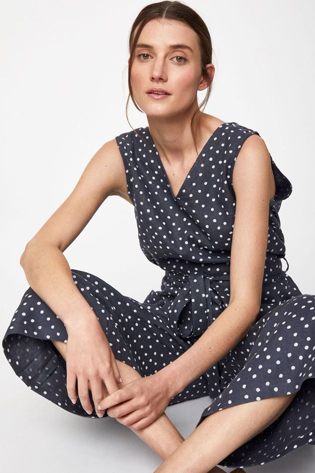 Picture of Thought Miriam Hemp Spot Jumpsuit