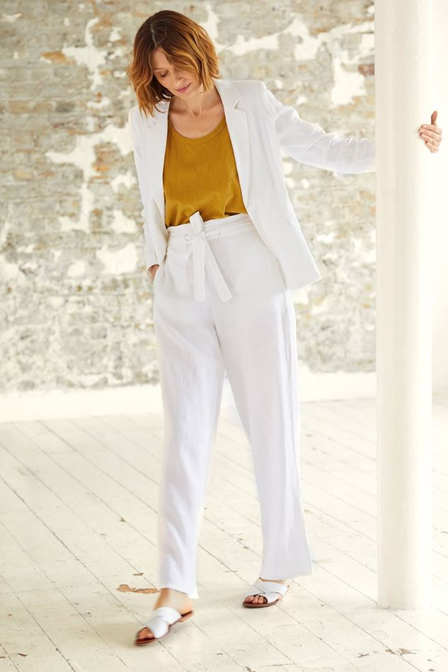 Picture of Thought Ellena Hemp Wide Leg Trousers