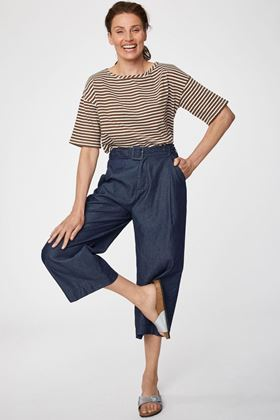 Picture of Thought Camila Wide Leg Paperbag Culottes