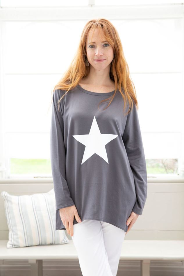 Picture of Chalk Robyn Top with White Star Detail