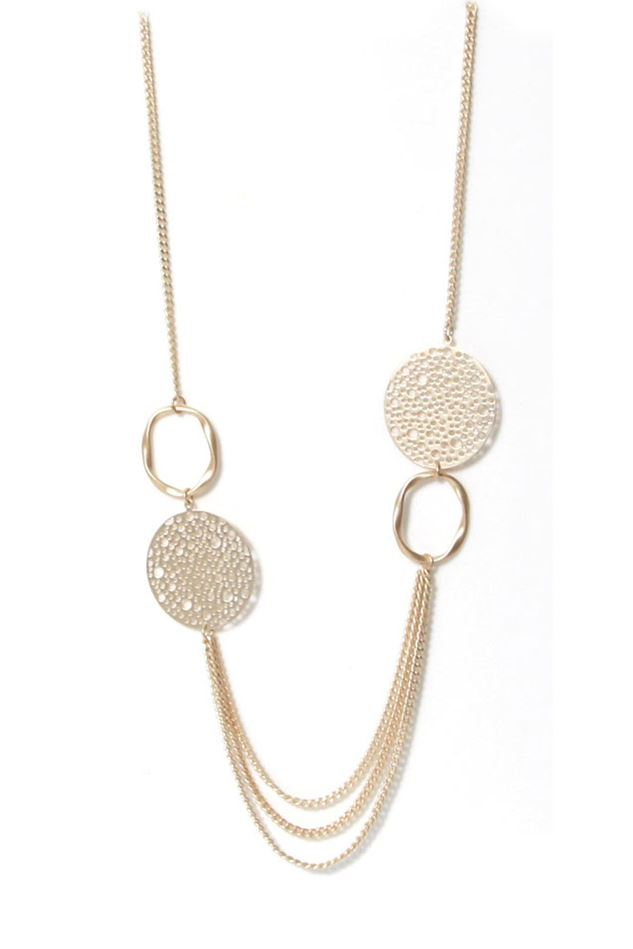 Picture of Envy Jewellery Long Matt Gold Chain Necklace