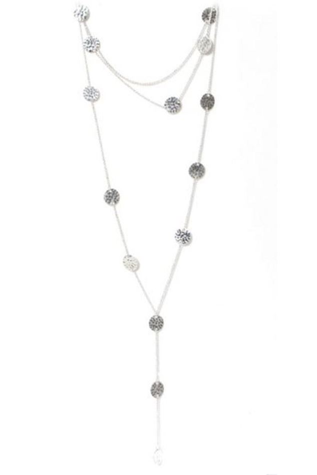 Picture of Envy Jewellery Multi Layer Silver Coin Necklace
