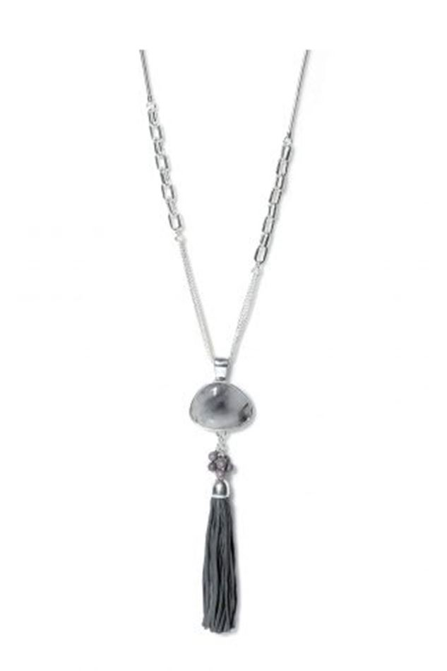 Picture of Envy Jewellery Long Grey Stone and Tassell Necklace